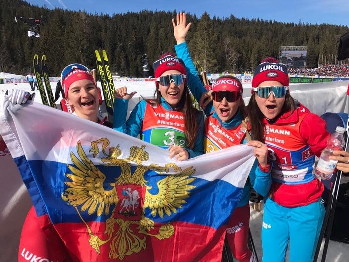 Женская сборная берет бронзу в эстафете по лыжным гонкам на Чемпионате мира!!! Лыжи, Эстафета, Чемпионат мира, Бронза, Молодцы