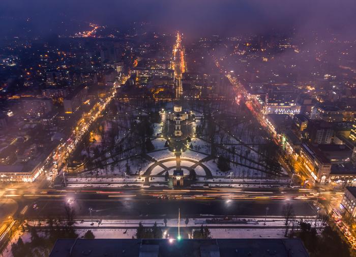 Кишинев с высоты птичьего полета Фотография, Дрон, Кишинев, Молдова, Длиннопост