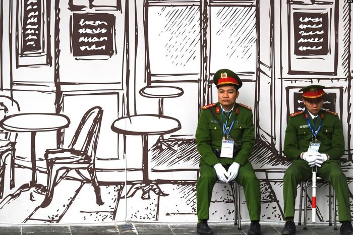 Нарисованный мир Вьетнам, Военные, Фотография