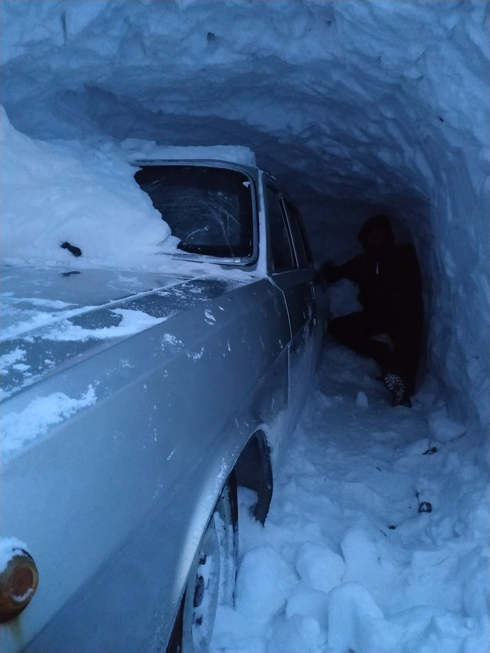 Здравствуйте из Норильска Норильск, Снег, Сугроб, Длиннопост