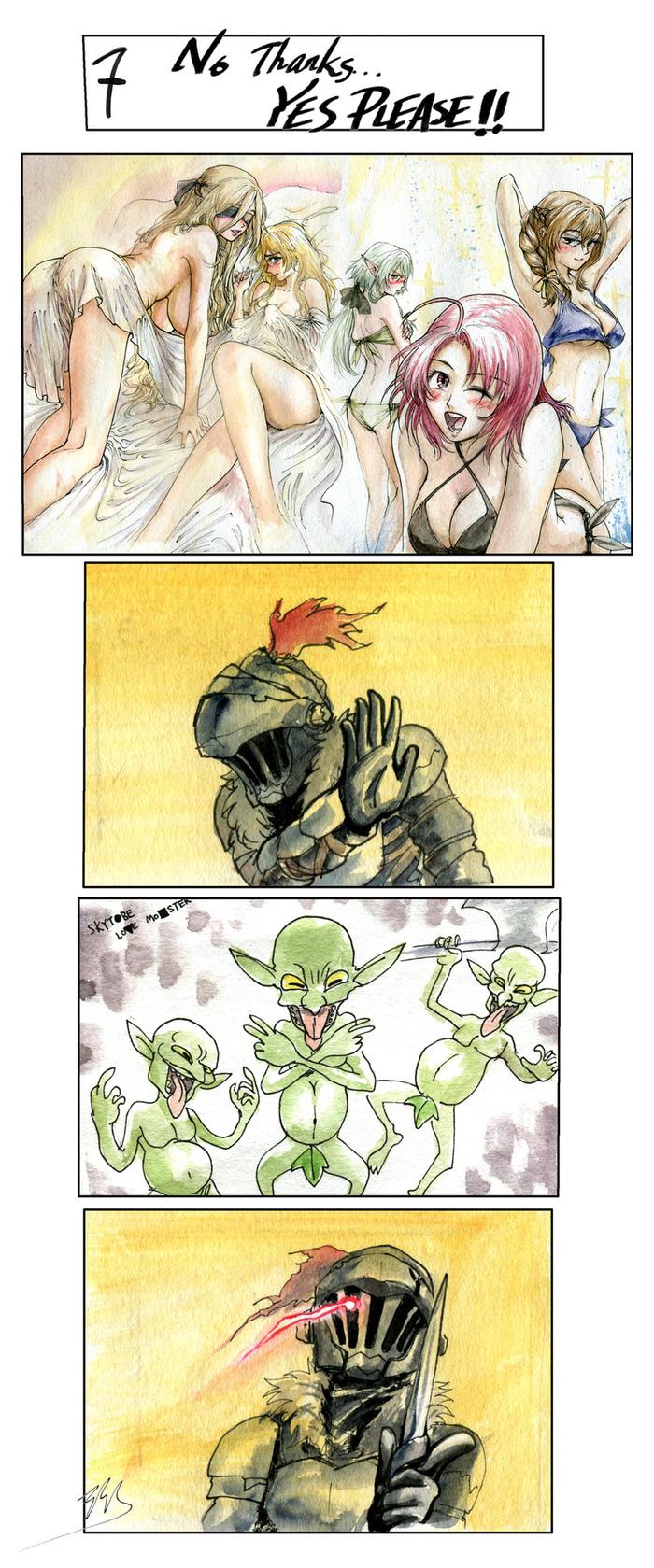 Зачем гарем, если есть гоблины Goblin Slayer, Anime Art, Длиннопост