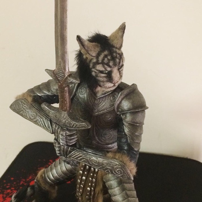 Каджит Tes:5, The Elder Scrolls V: Skyrim, The Elder Scrolls, Skyrim, Каджит, Полимерная глина, Длиннопост, Своими руками