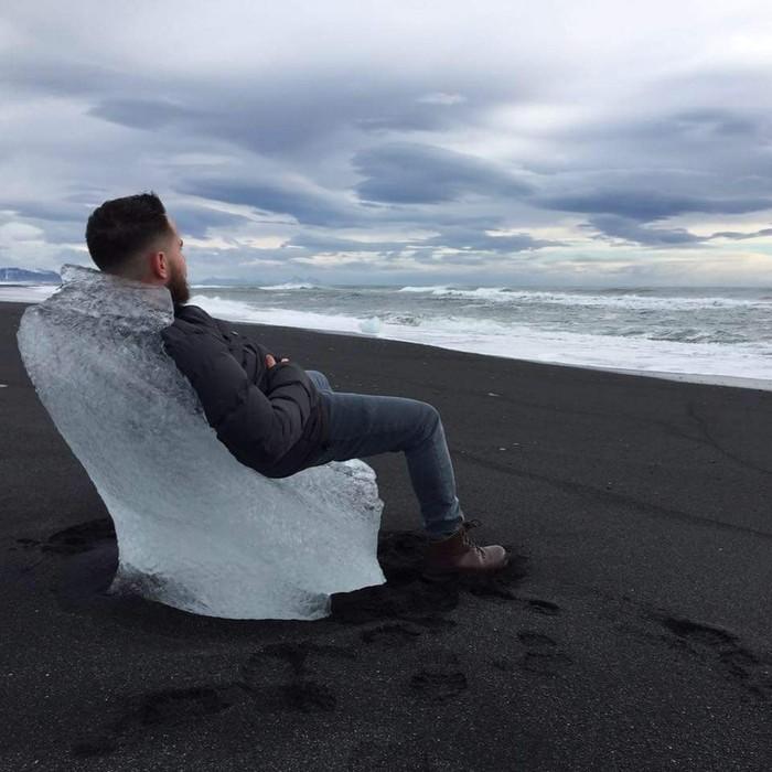 Ледяной трон Фотография, Лед, Трон, Исландия, Пляж, Море