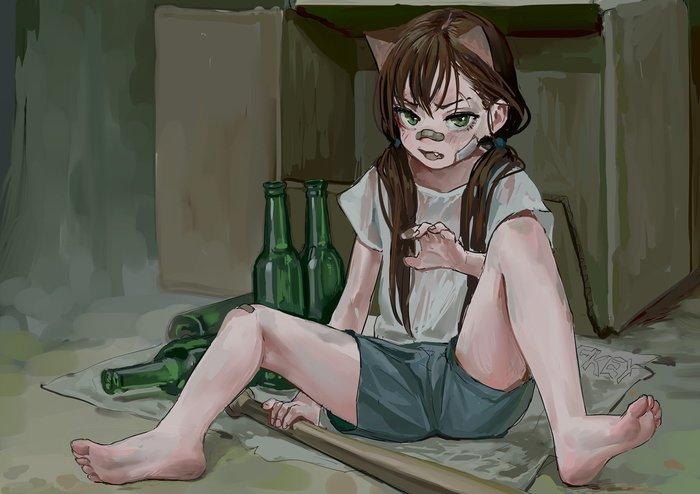 Дикая кошка FKEY, Арт, Anime Art