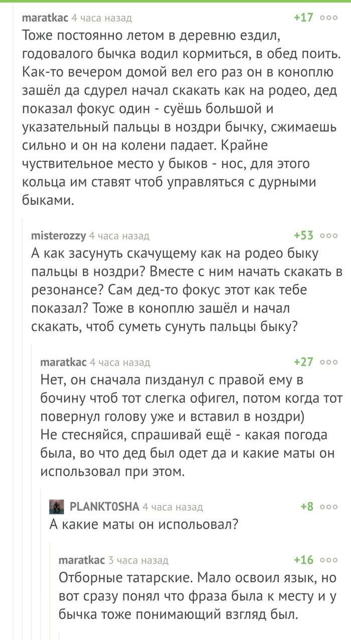 Комментарии на Пикабу, как отдельный вид прекрасного Комментарии на Пикабу, Животные, Дед, Понимание, Скриншот