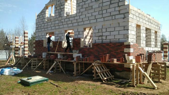 Как я дом построил_8 Дом, Дача, Строительство, Кирпичи, Труд, Длиннопост