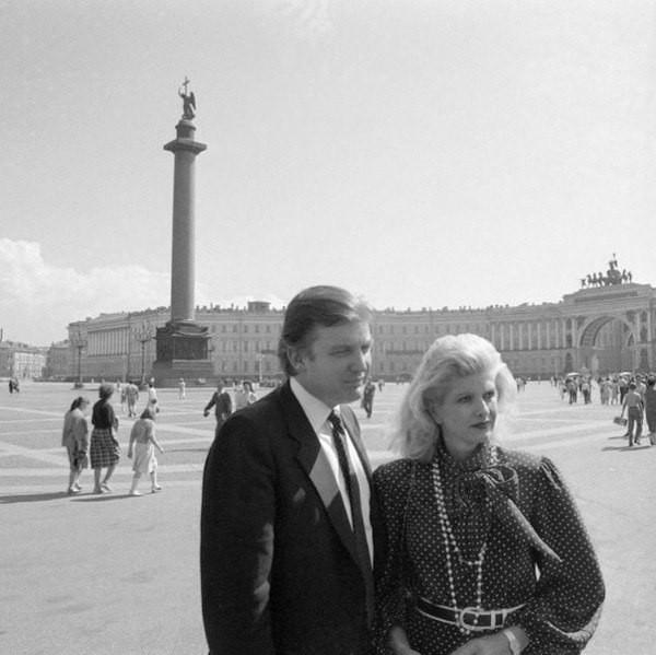 Трамп с женой в Ленинграде. 1987 год.