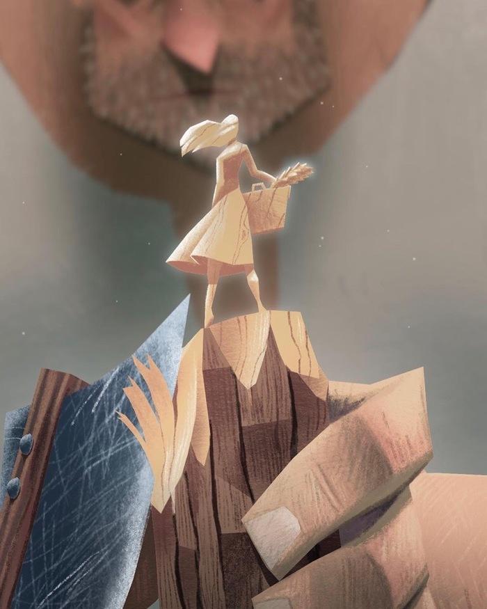 Плотник Арт, Плотник, Фигурка, Дерево, Резьба по дереву, Топор, Длиннопост