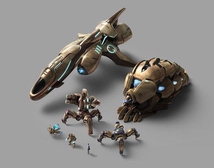 Семейное фото Starcraft 2, Starcraft: Brood War, Starcraft, Компьютерные игры, Протоссы, Юнит, Рендер, 3D моделирование