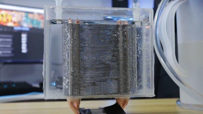 Обычный CPU кулер внутри водянки. Что будет? Компьютерное железо, Охлаждение компьютера, Процессор, Разгон компьютера, Видео, Длиннопост