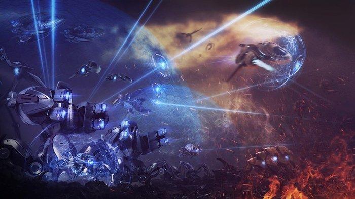Сегодня мы вернём родной мир, и с ним — наше наследие! Starcraft, Starcraft 2, Протоссы, Компьютерные игры, Арт, Битва