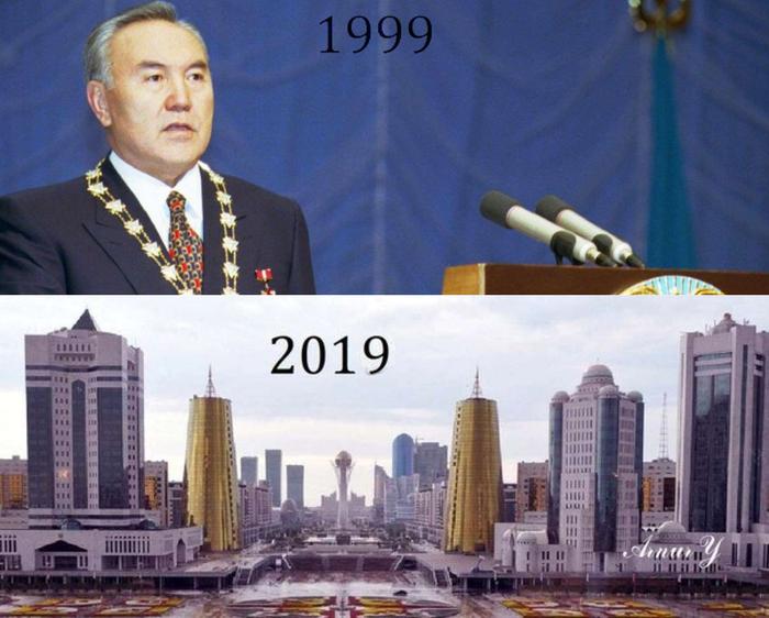 Как изменился Нурсултан за 20 лет