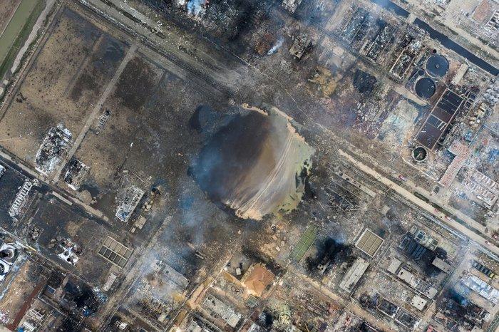 Китай: Последствия взрыва в Яньчэне Китай, Взрыв, Последствия, Видео, Длиннопост