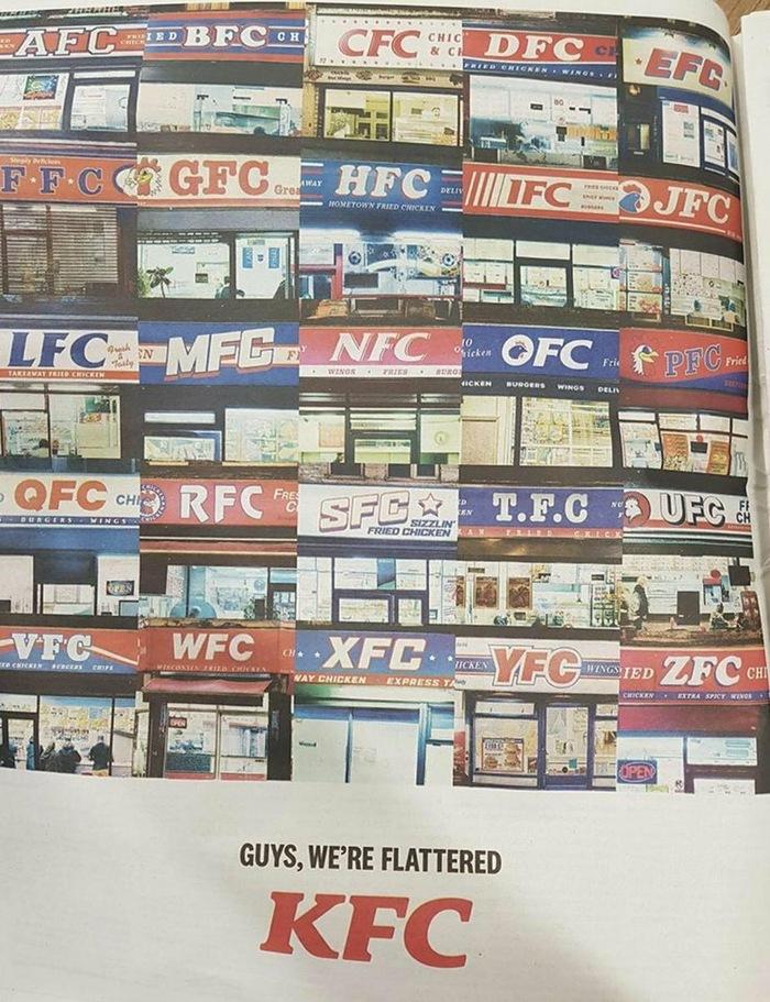 Мы польщены Kfc, Реклама, Подражатели