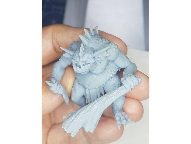 Речной тролль - 3д модель под печать. Миниатюра для настольных игр. Miniatures, Миниатюра, 3D, 3D печать, Тролль, Warhammer Fantasy Battles