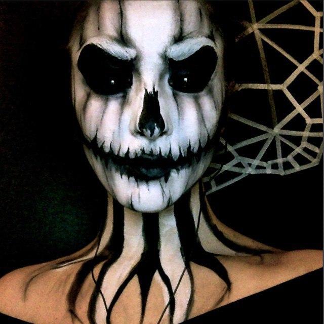 фото хэллоуин макияж для девушек