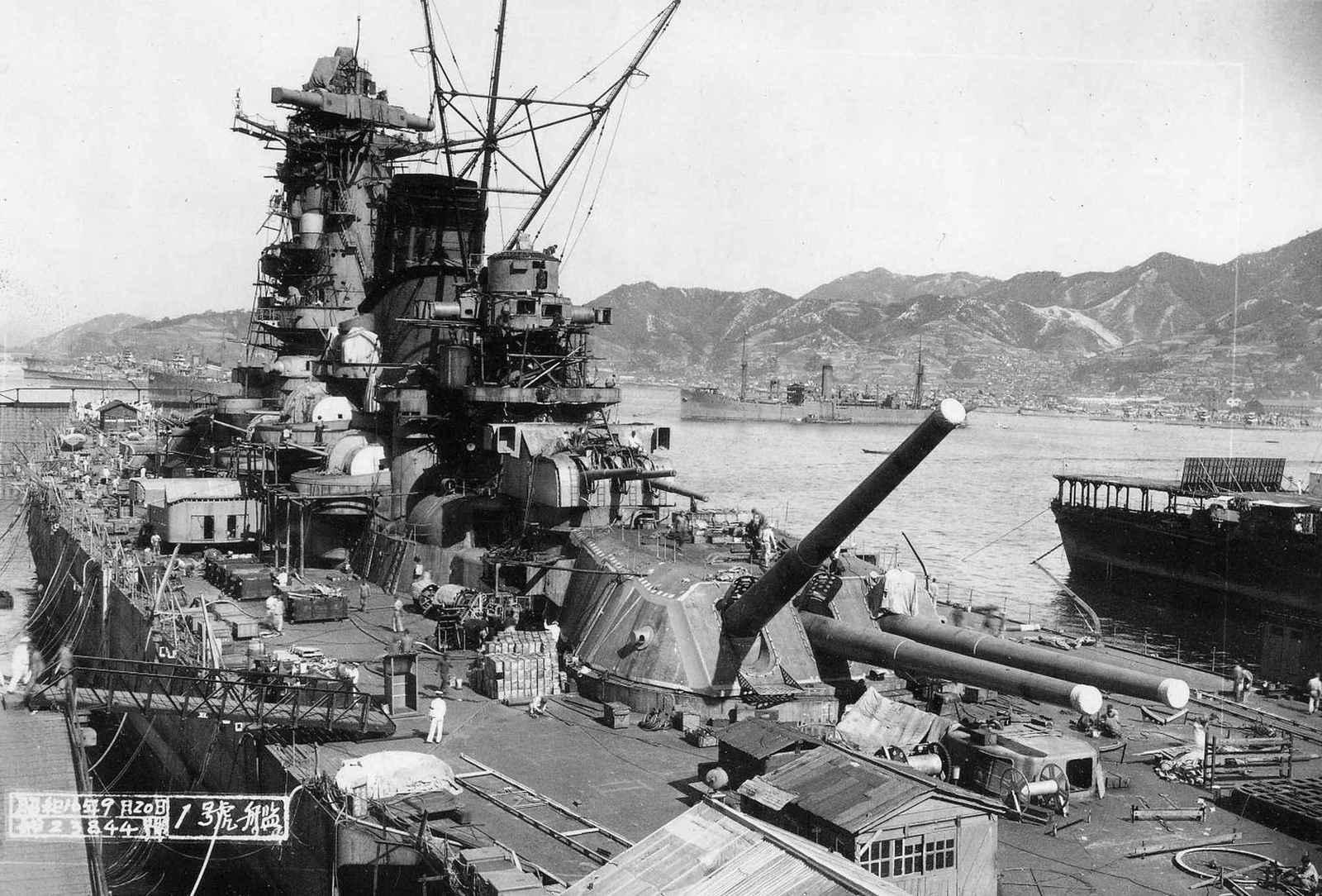 間近で撮られた戦艦大和