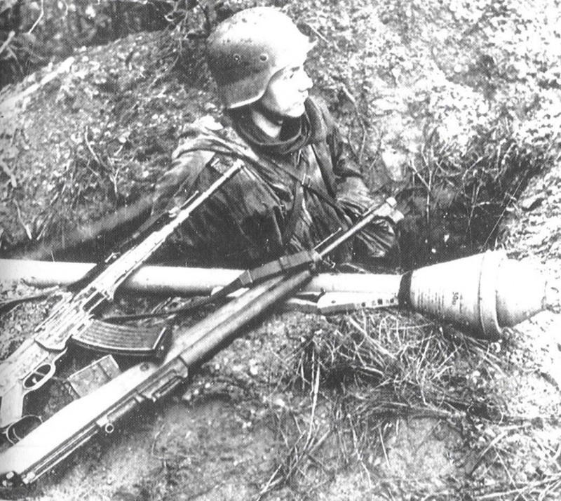 German soldier with StG-44.