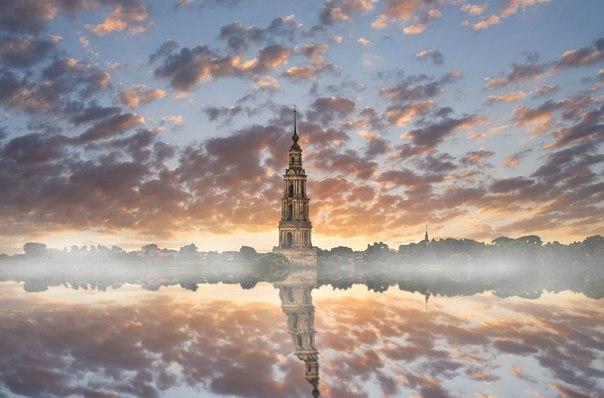 Калязинская колокольня /колокольня Никольского собора | Пикабу