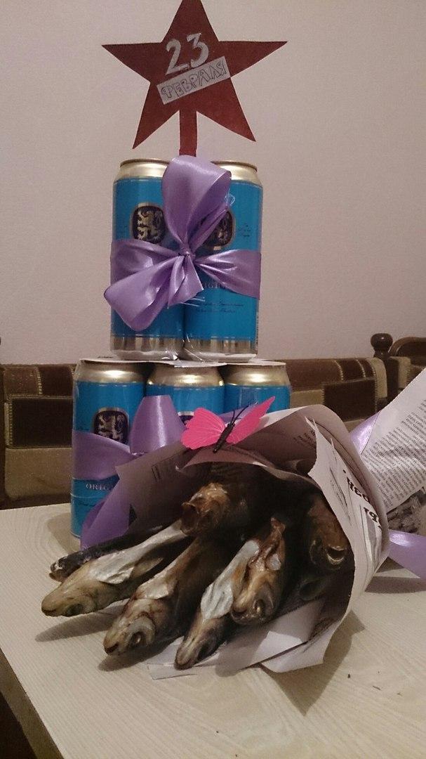 подарок пиво с рыбой фото