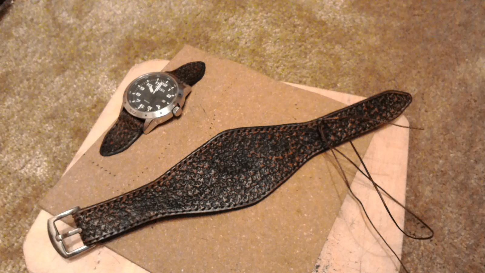 Ремешок из кожи для часов своими руками