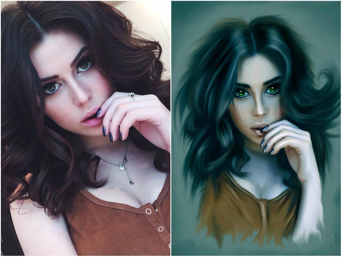 Работы в фотошопе девушки ира из топ девушка модель по украински