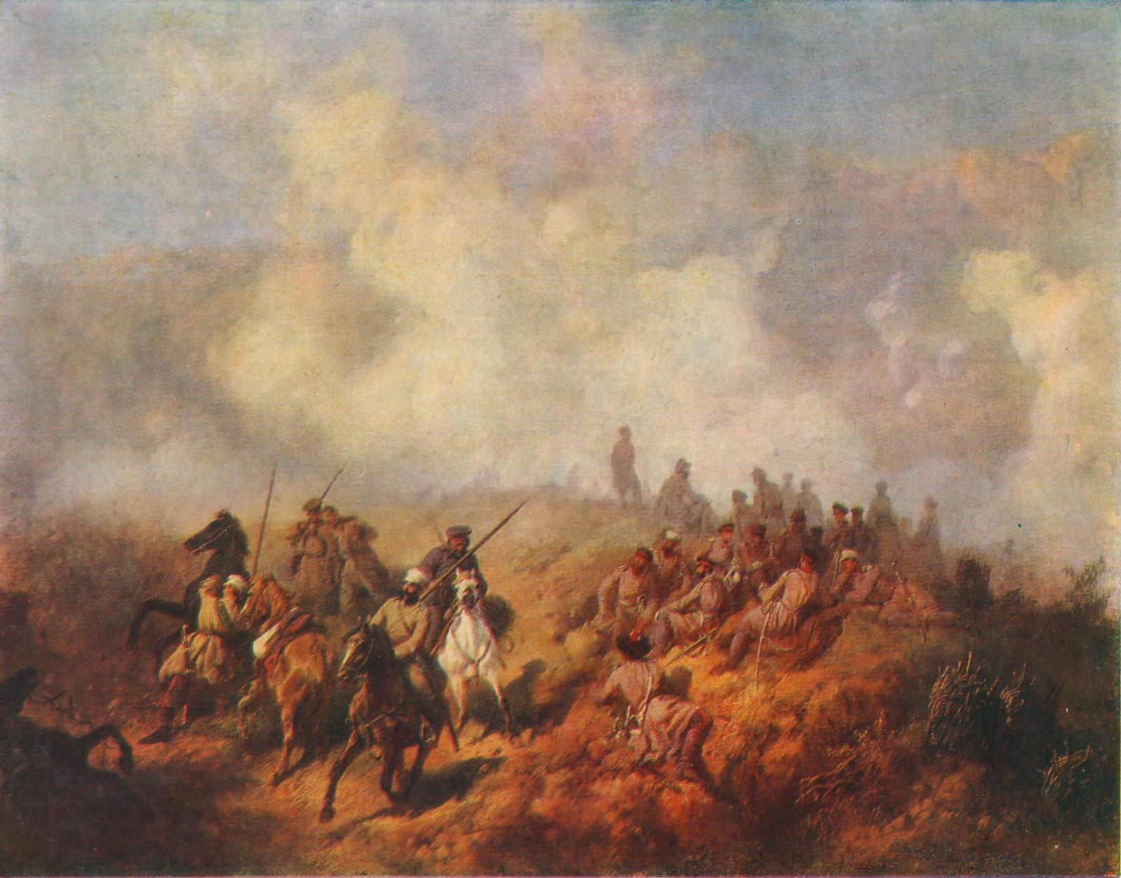 Обои Сражение у Шипки-Шейново 28 декабря 1877 года, холст, Сражение при Шейново, масло., Русско-турецкая война (1877—1878), Алексей КИВШЕНКО. Разное foto 7