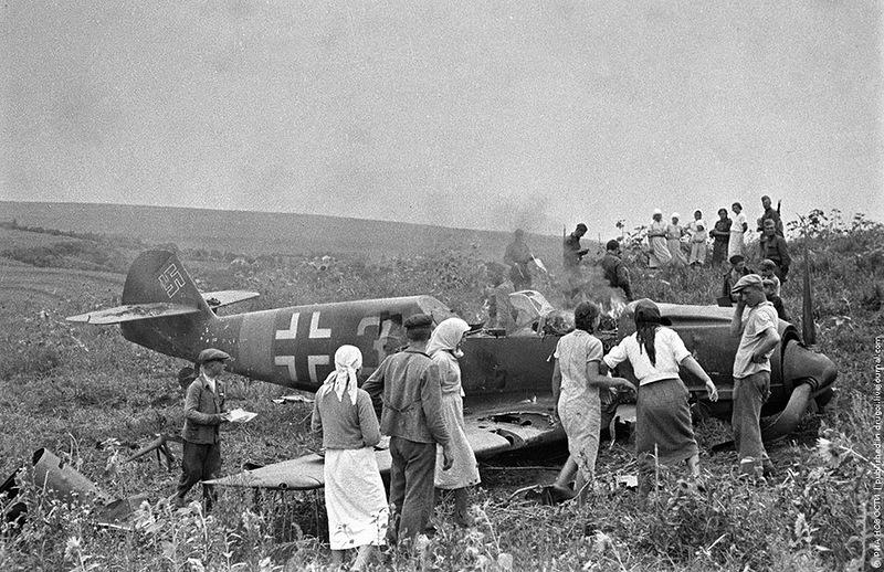 немецкие сбитые самолеты фото