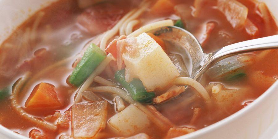рецепт суп куриный с тукмас