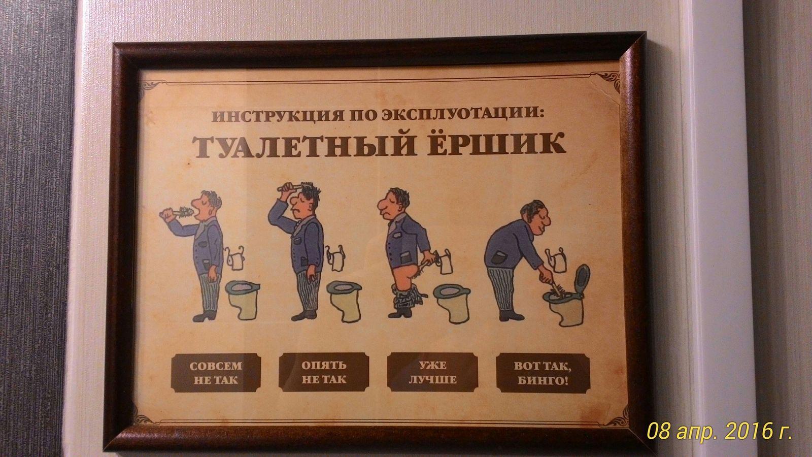 Инструкция пользования туалетом прикол
