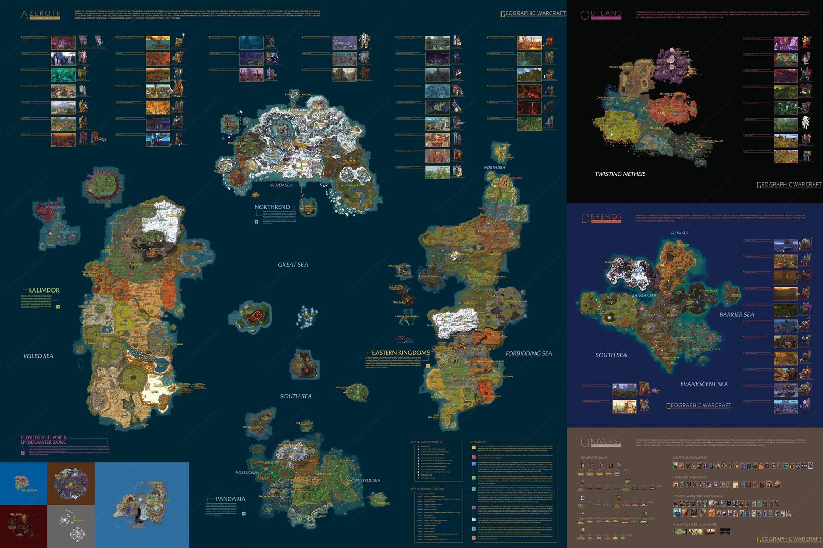 Karta World Of Warcraft V Kommentah V Horoshem Kachestve