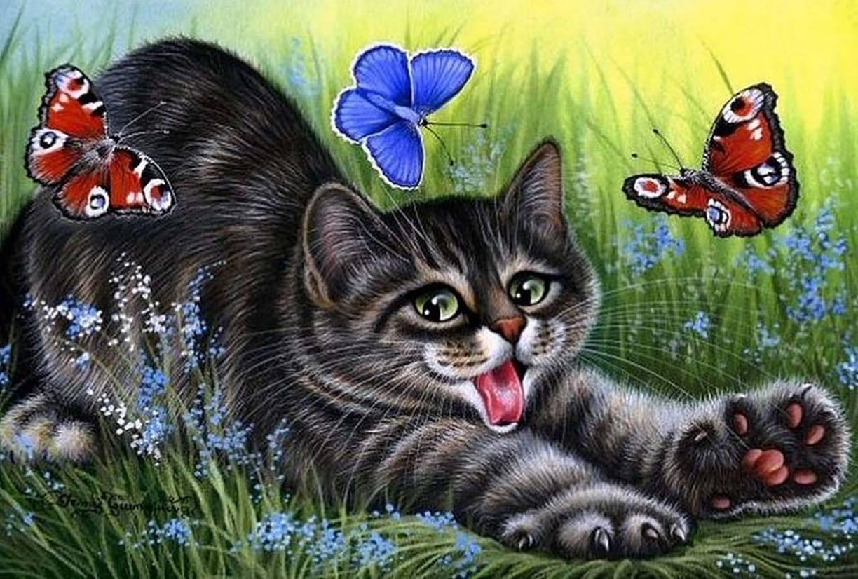 Гармашова коты вышивка