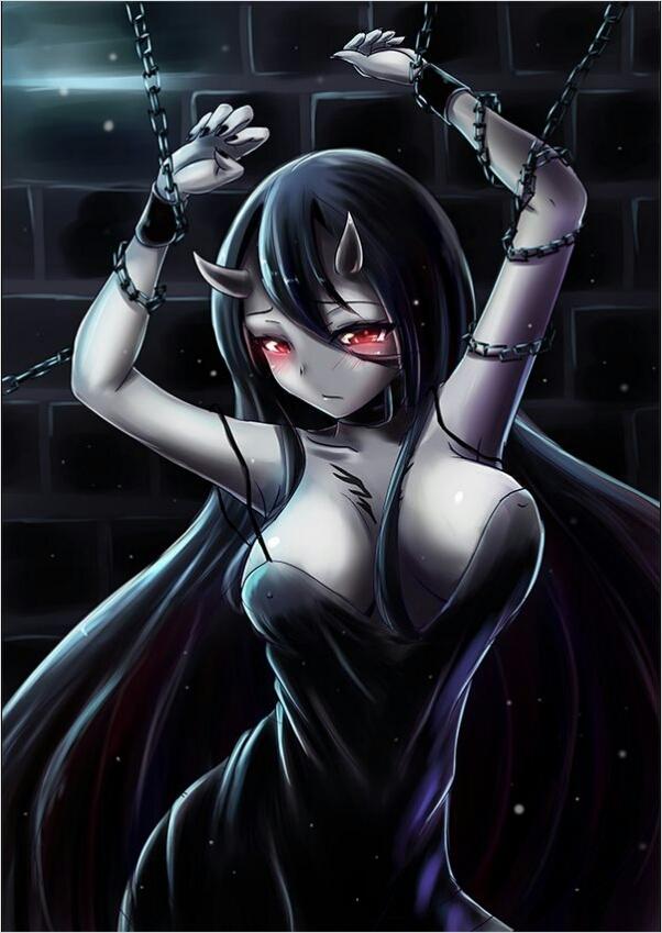 картинки девушка аниме демон