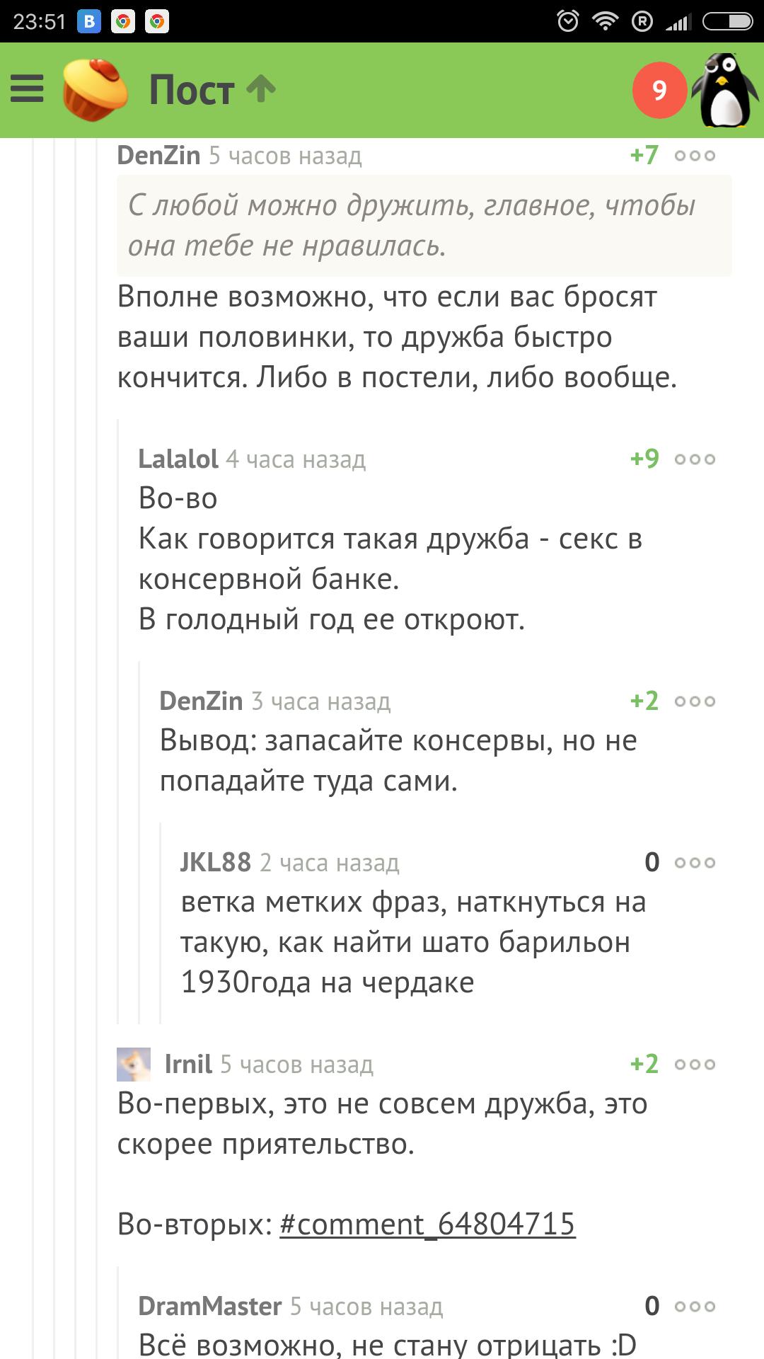 Комментарий про секс
