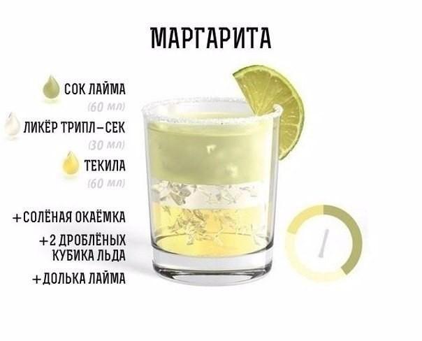большие алкагольный коктейли рецепт