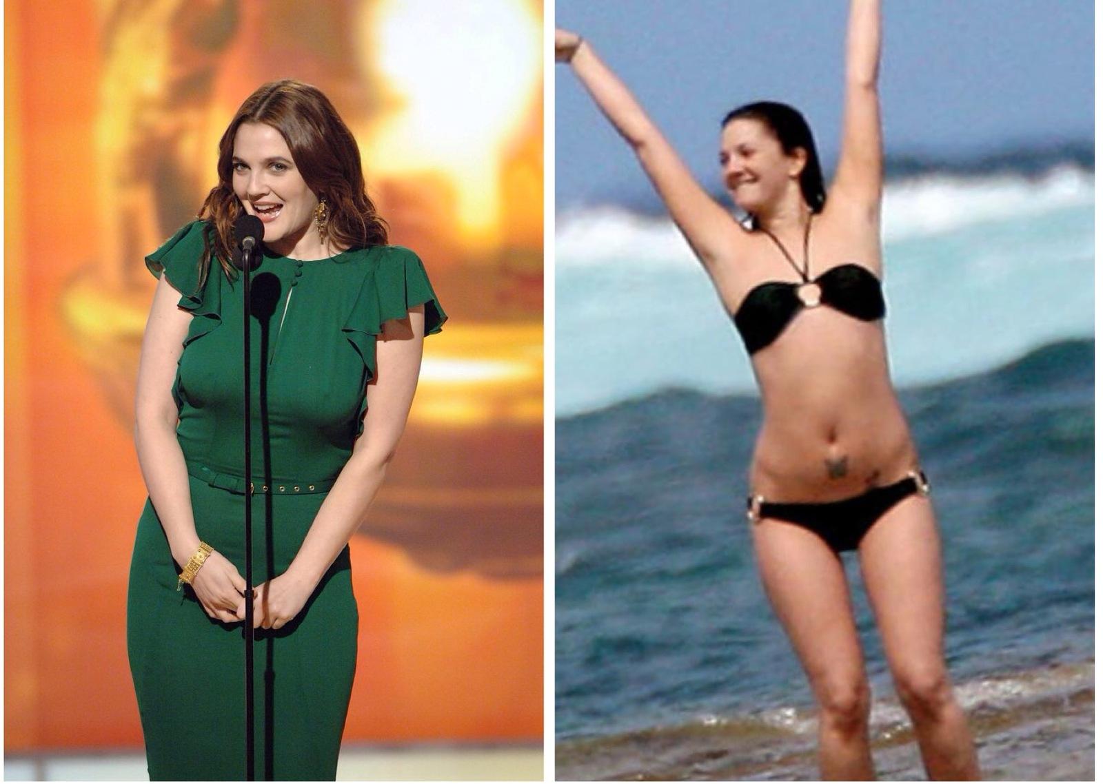 Стоячие груди худых моделей