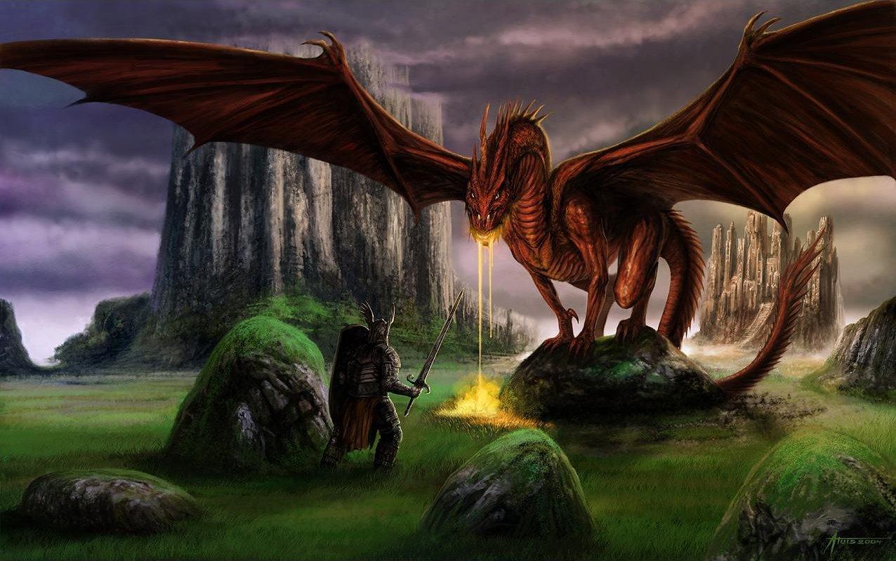 Сказки про дракона и рыцаря