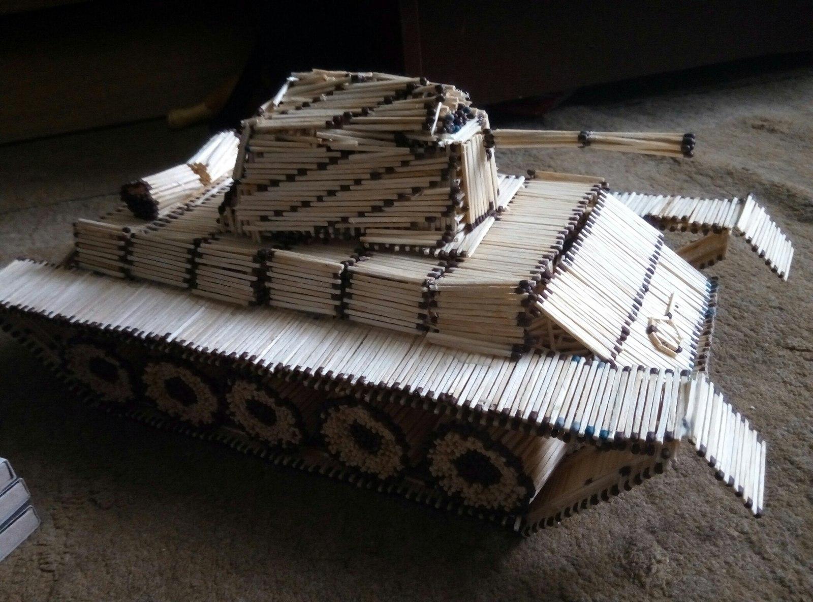 Как сделать спичечный танк фото 87