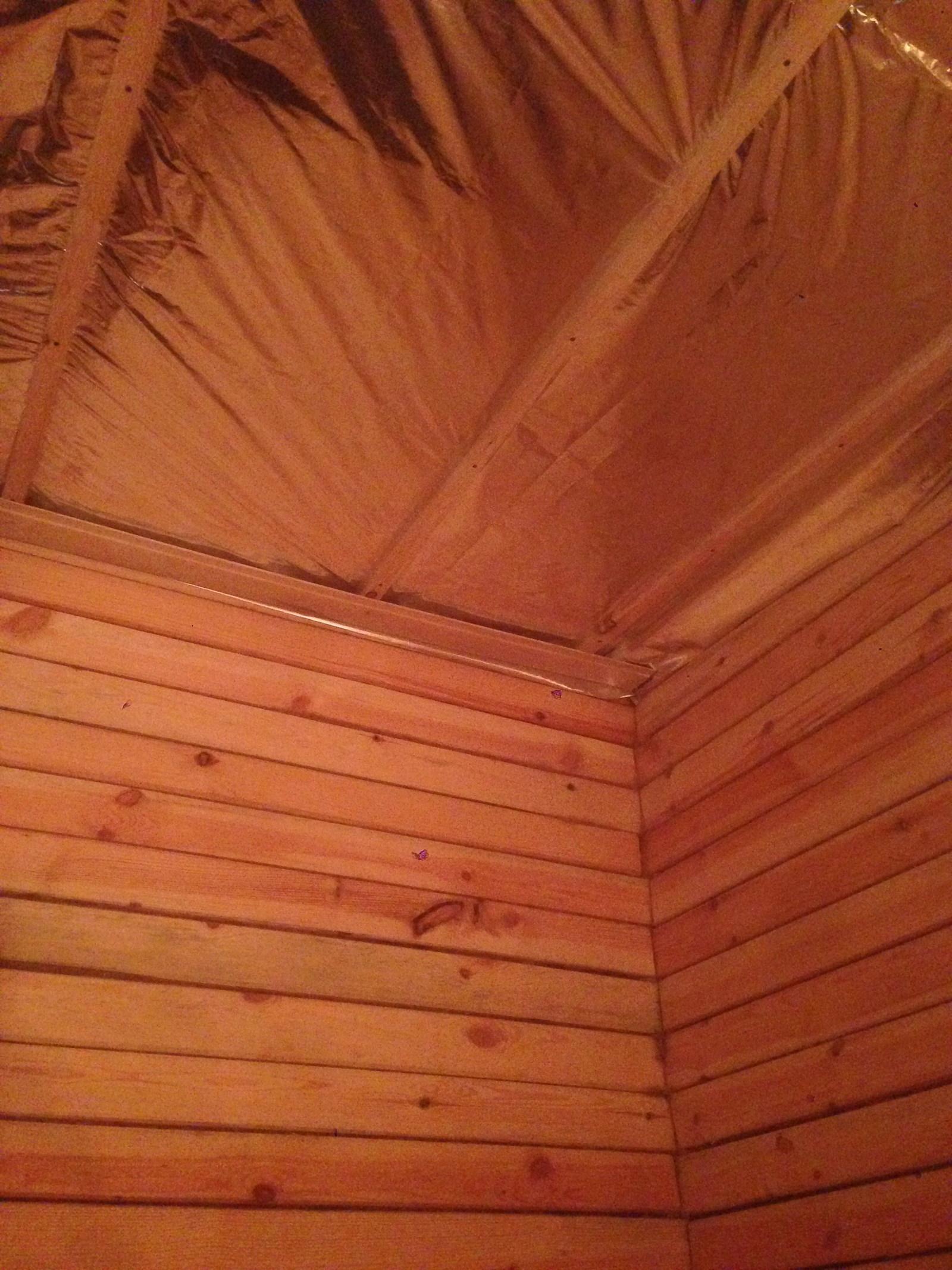 Потолок сруба своими руками 79
