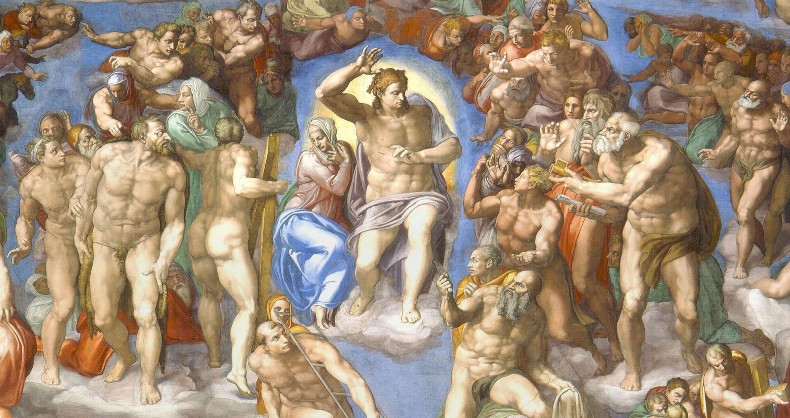 Картинки по запросу «Страшный суд» Микеланджело, 1537-1541 г