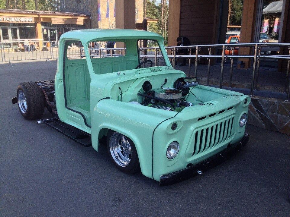 ГАЗ - 53 - фото кабины, двигателя и рамы