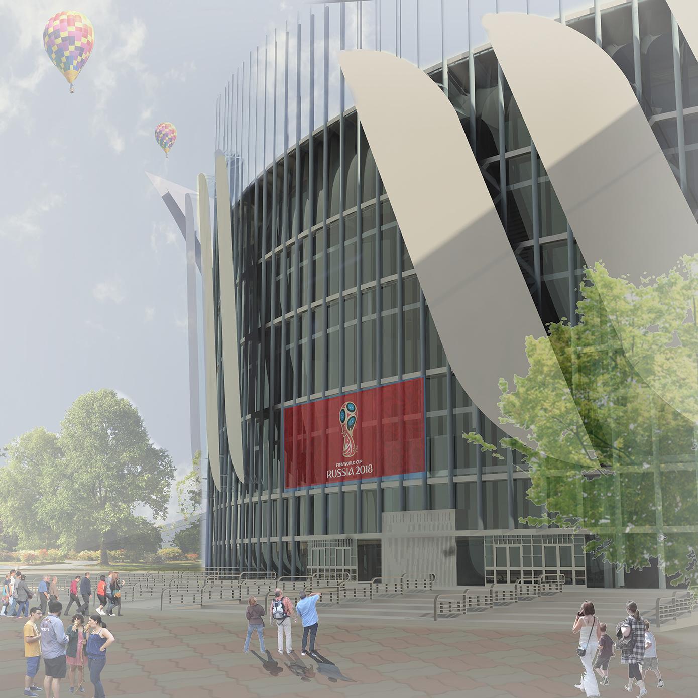 Футбольный стадион Мой дипломный проект  Мой дипломный проект стадион футбольный стадион диплом архитектура