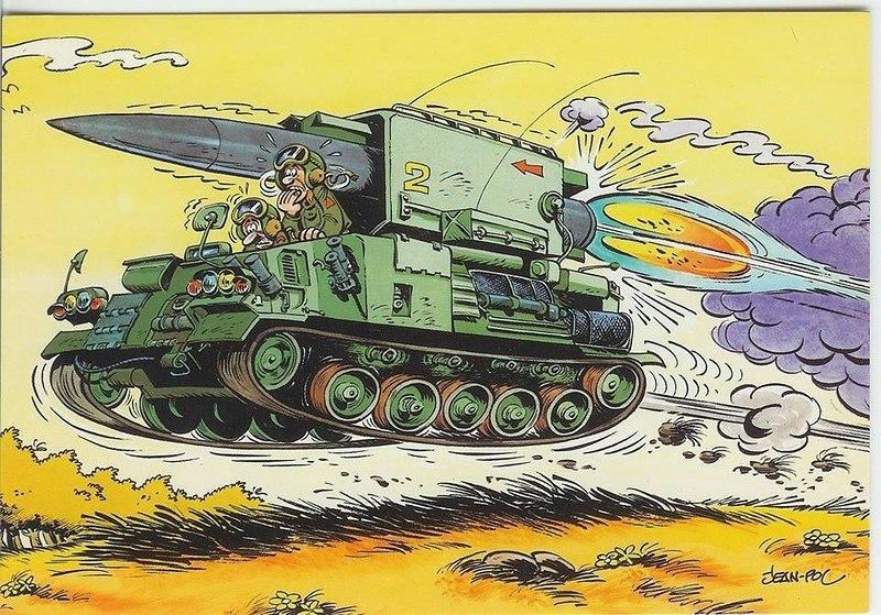 Прикольными рисунками, военная техника веселые картинки