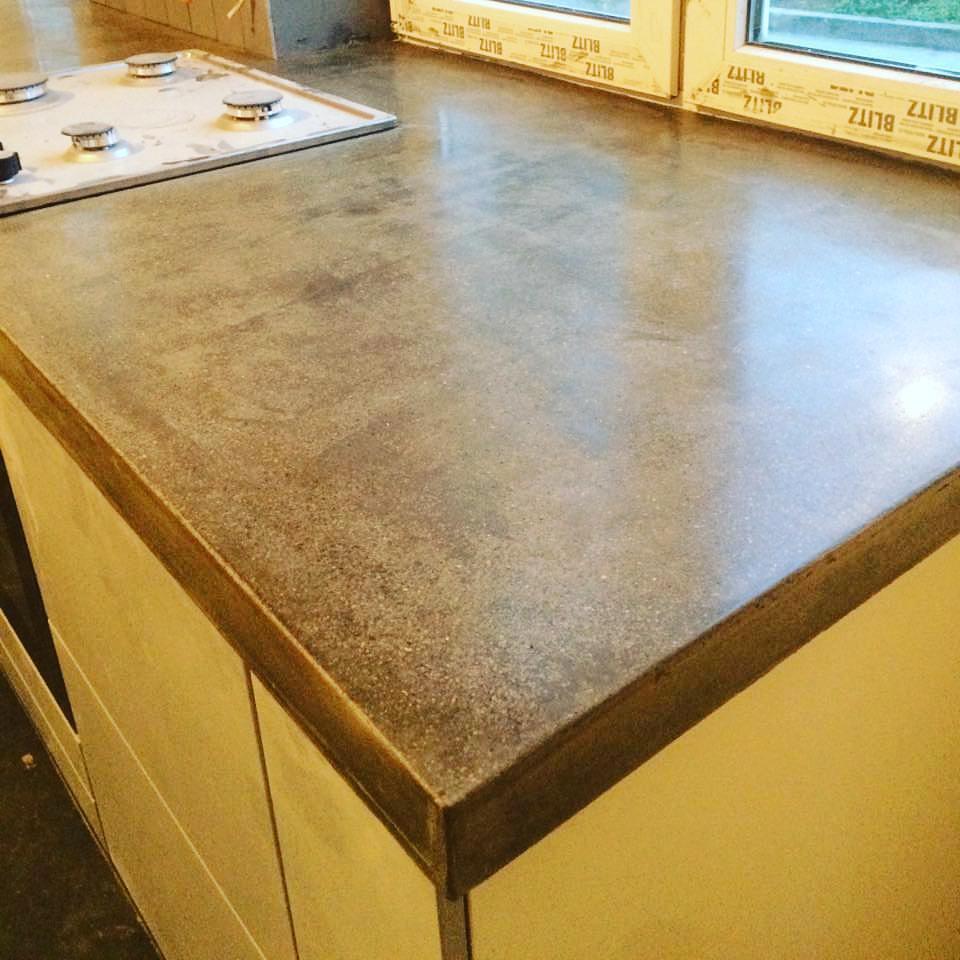 Столешница из полированного бетона купить соотношение песка цемента и гравия в бетоне