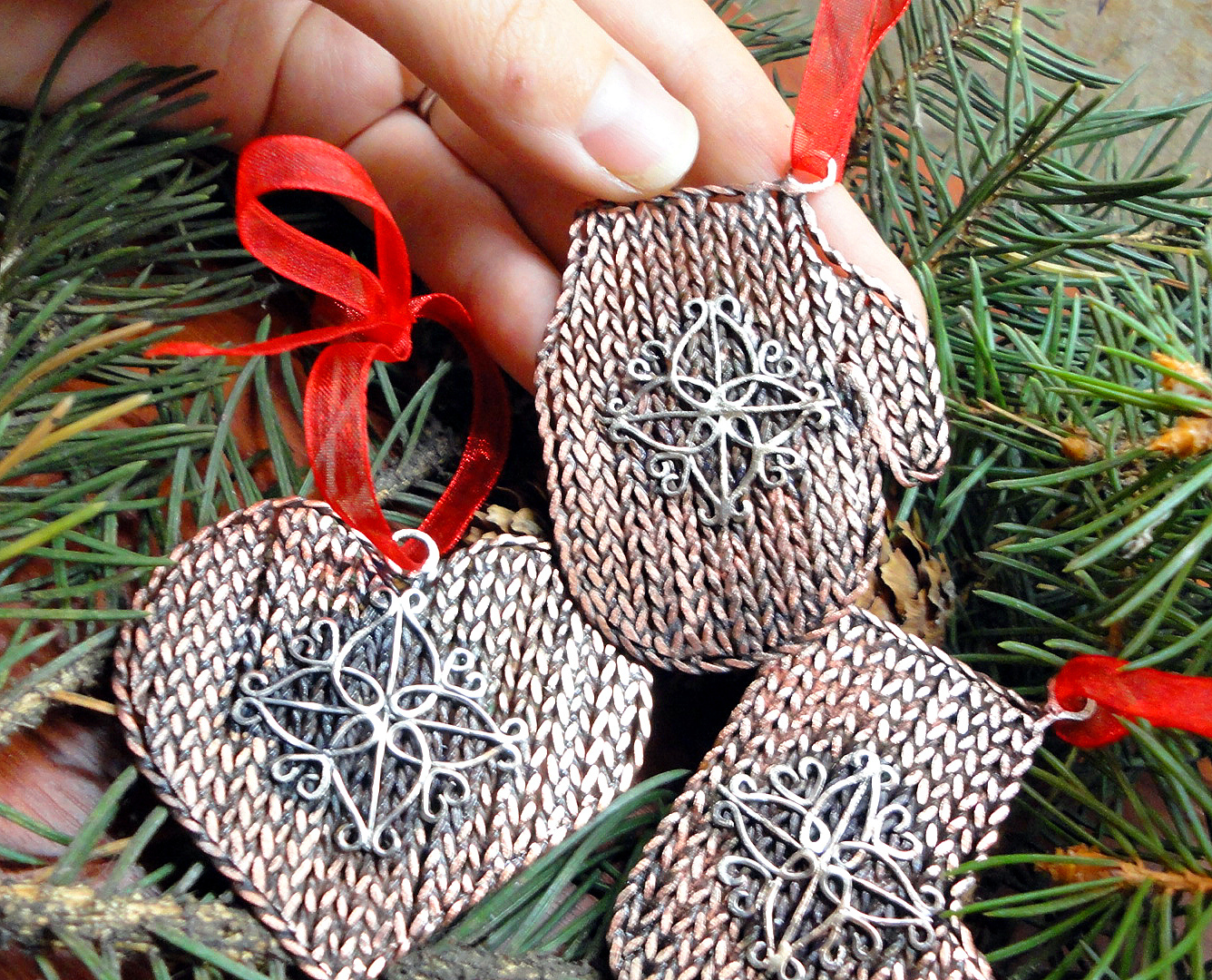Елочные украшения своими руками наборы для фото 887