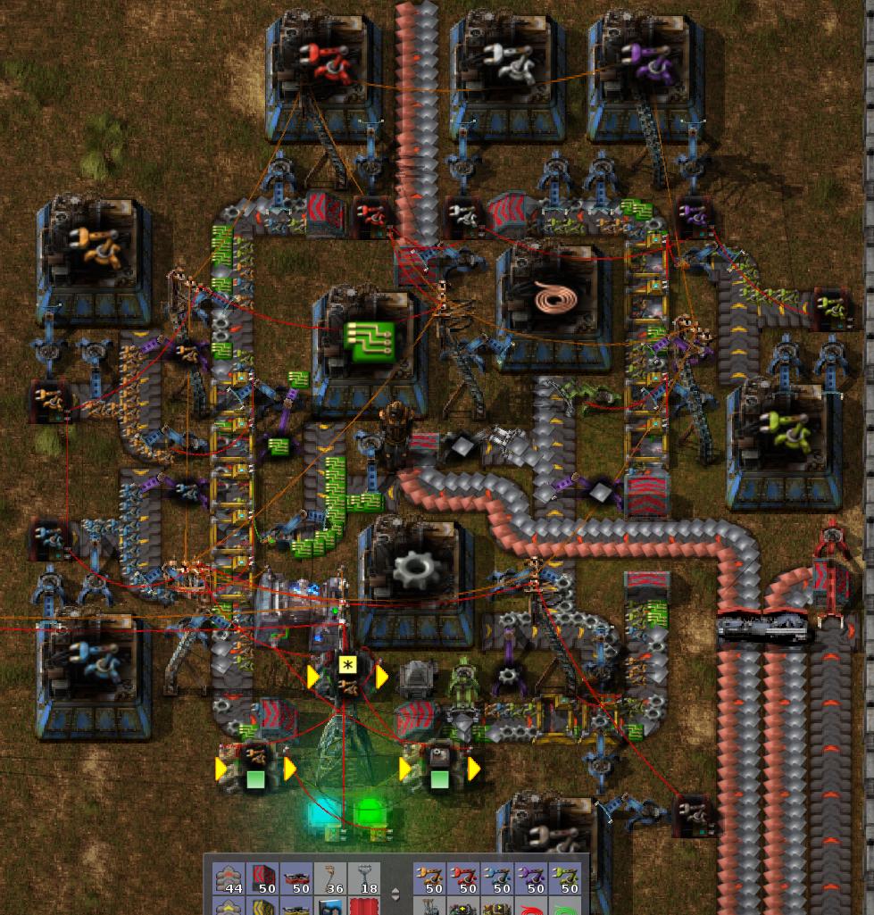 factorio схемы производства