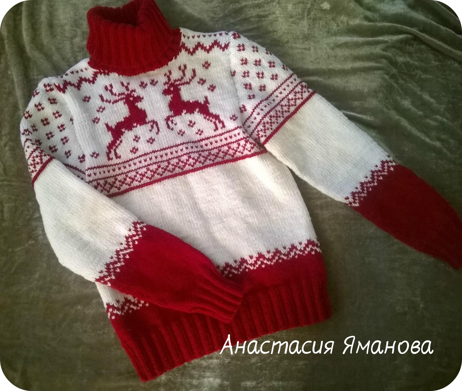 Красный свитер своими руками фото 302
