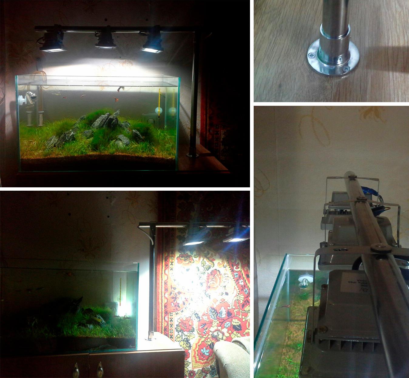 Крышка светильник на аквариум своими руками