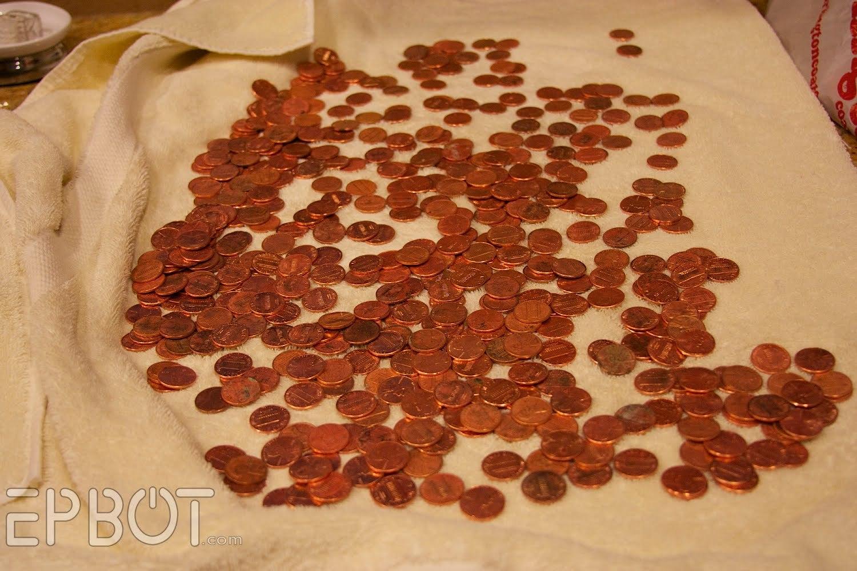 Столешница из монет