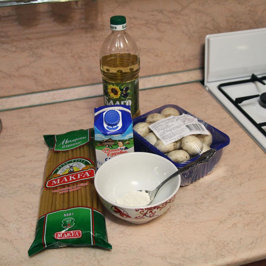 Шампиньоны в сливочном соусе простой рецепт